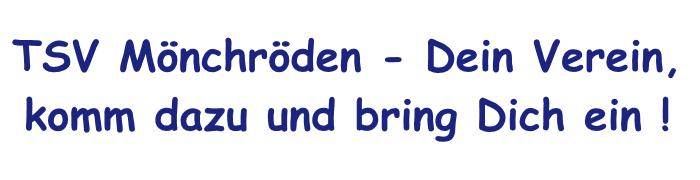 TSV Mönchröden - Dein Verein!